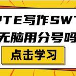 PTE写作SWT能无脑用分号吗?